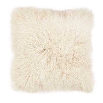 Mongolian Lamb Fur Cushion Cover Ivory