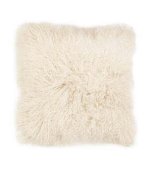 Mongolian Lamb Fur Cushion Cover Ivory