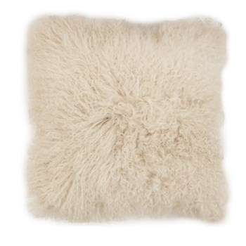 Mongolian Lamb Fur Cushion Cover Taupe