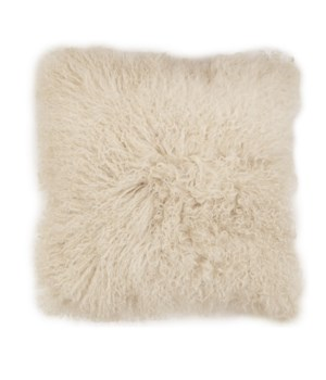 Mongolian Lamb Fur Cushion Cover Taupe