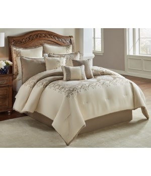 New Haven 9 pc Queen Comforter Set