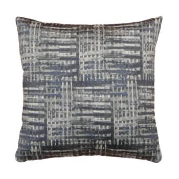 Navy Texture jacquard 18x18 Pillow Navy