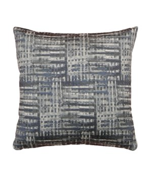 Navy Texture jacquard 18x18 Pillow Navy