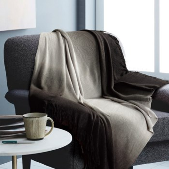Ombre Charcoal Throw 50x60