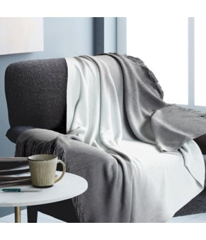 Ombre Gray Throw 50x60