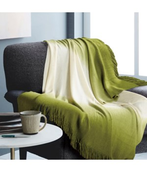 Ombre Green Throw 50x60