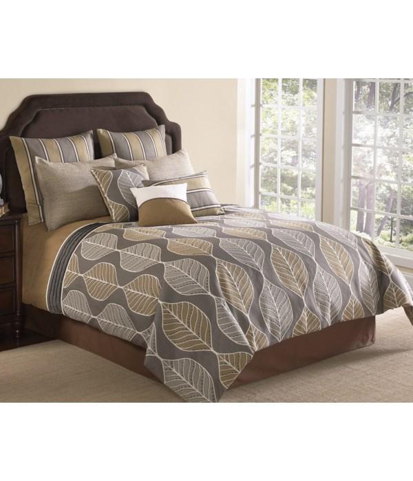Branson 9 pc Queen Comforter Set
