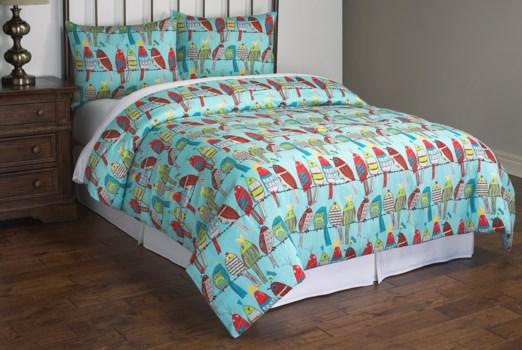 Party Birds 3 piece Full/Queen Comforter Set
