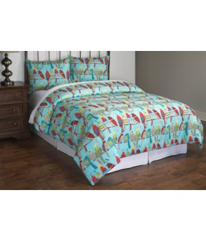 Party Birds 3 piece Full/Queen Comforter Set