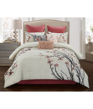 Piper 9 pc Queen Comforter Set