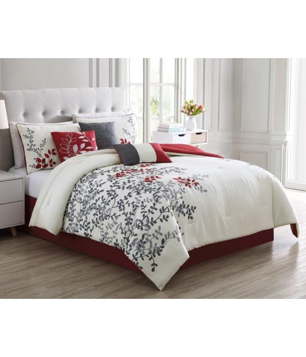 Prendle 7 PC Queen Comforter Set