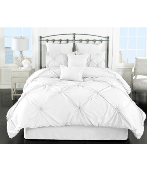 Lila White 8pc Queen Comforter Set