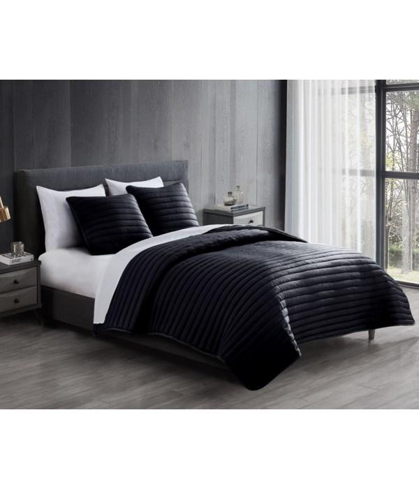 Puffer 3pc Comforter F/Q Black*EXPERIMENTAL