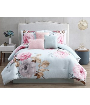 Rachel 7 pc Spa Queen Comforter Set