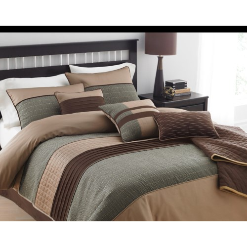 Rexwell 7pc Comforter Set Queen