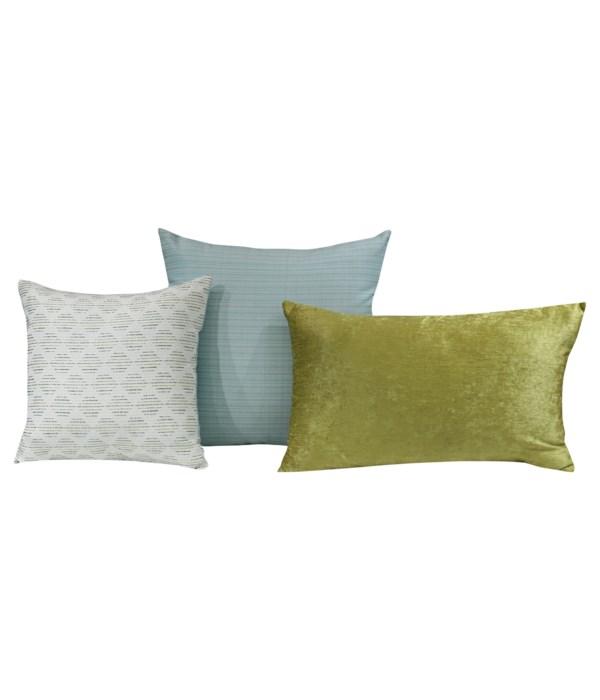 Sephene 3 pc Pillow Set