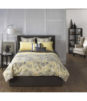Soleil 4 pc Full Comforter Set (Made In USA)