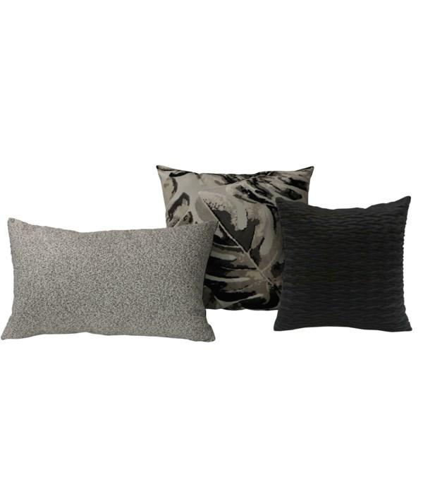 Stadia 3 pc Pillow Set  - Gray