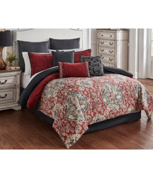 Stewart 9 pc Queen Comforter Set