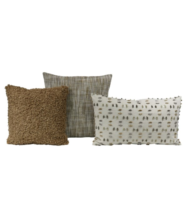 Syncline 3 pc Pillow Set