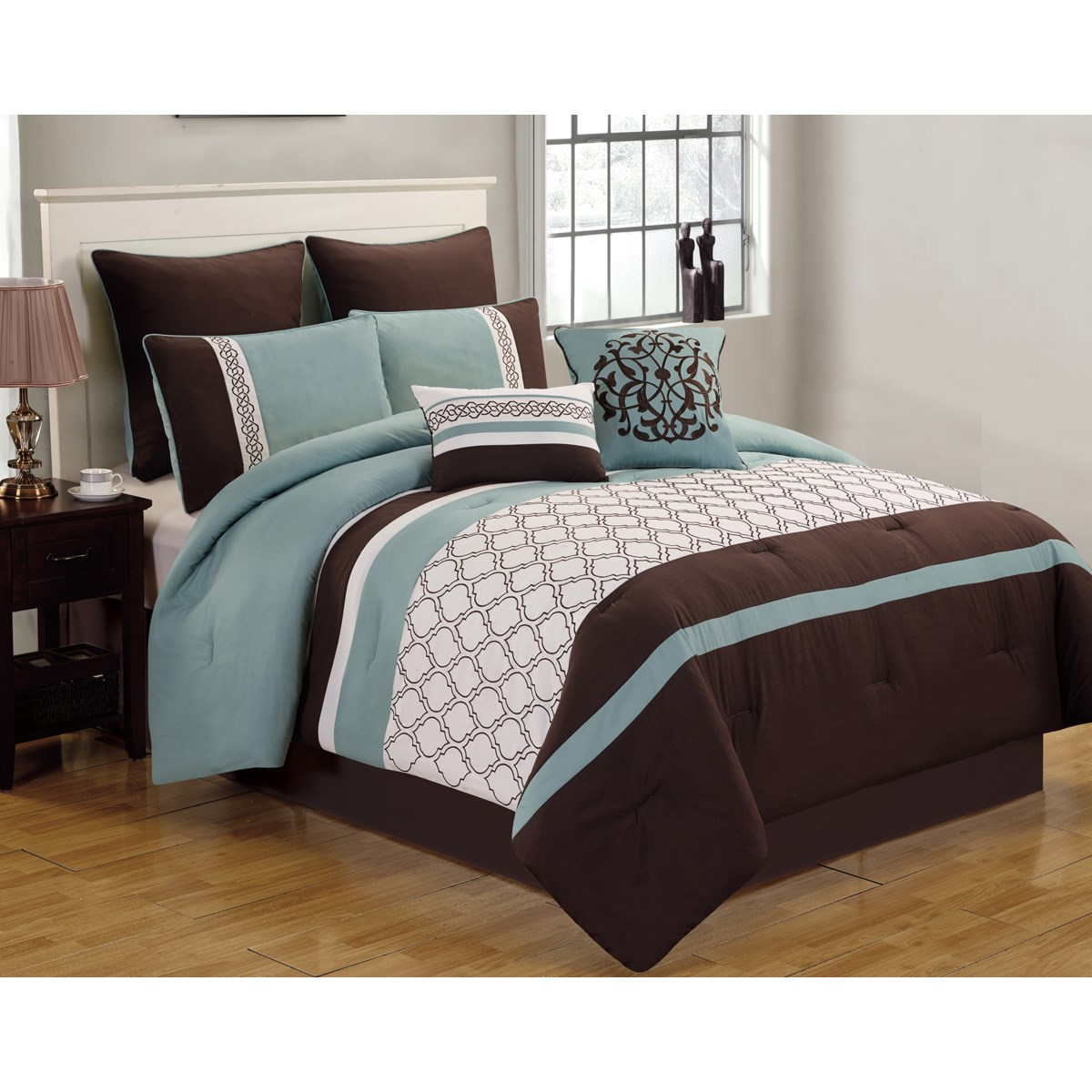 Teagan 8pc Queen Comforter Set