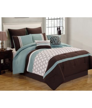 Teagan 8pc Queen Comforter Set