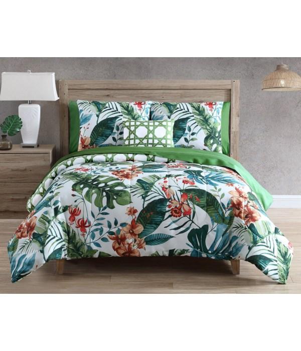 Tropical Dream 12 pc Queen Comforter Set