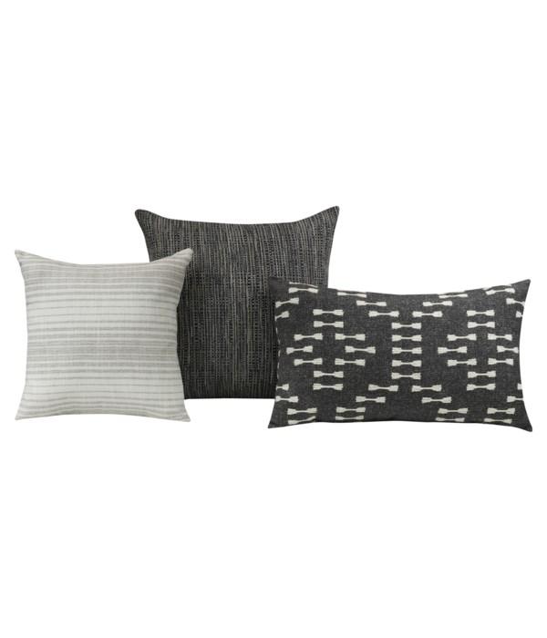 Turbidity 3 pc Pillow Set