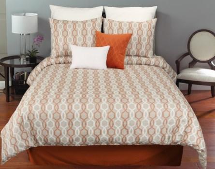 Whittier Orange 6 pc Queen Comf. Cover Set