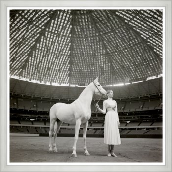 "Vogue Magazine, ""Model with Horse"", Franco Rubartelli, April 1968"