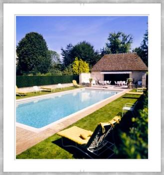 "Vogue Magazine, ""Pool at Haras de Meautry"", Henry Clarke, July 1974"