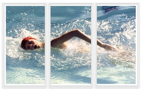 "Vogue Magazine, ""Swimming in Golden Door spa pool"", Jacques Malignon, April 1976"