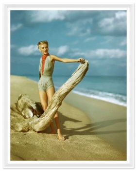 "Vogue Magazine, ""Model on Beach"", Serge Balkin, Aril 1945"