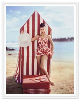 """Vogue Magazine, """"Model in front of Tent"""", Louise Dahl-Wolfe, January 1959"""