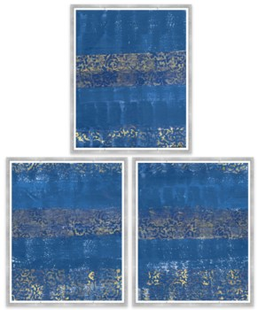 Blue and Gold Textile