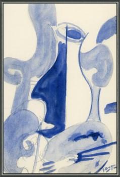 Blue Wine Caraf