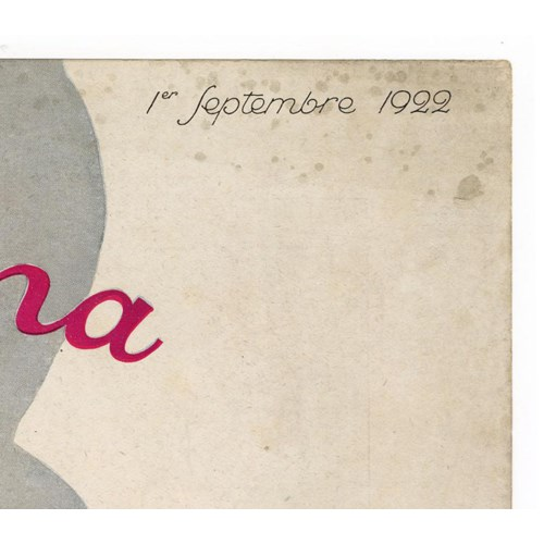 """Femina, September 1922"" Original Vintage French Magazine Cover"