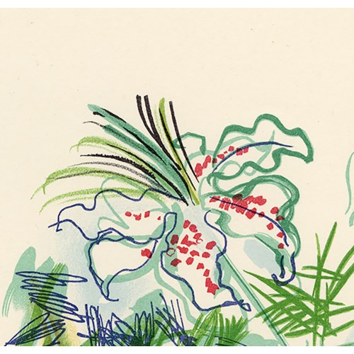 """""""Composition Au Fleurs"""". Original Lithograph by Raoul Dufy (1965)"""