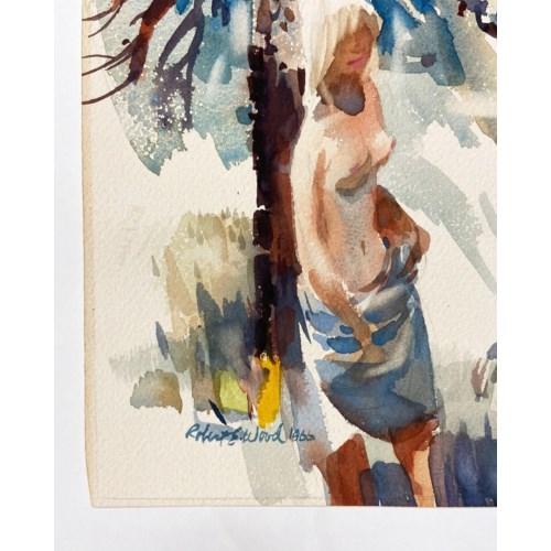 """""""Alone"""" Original Impressionist Watercolor by Robert E. Wood Circa 1966"""