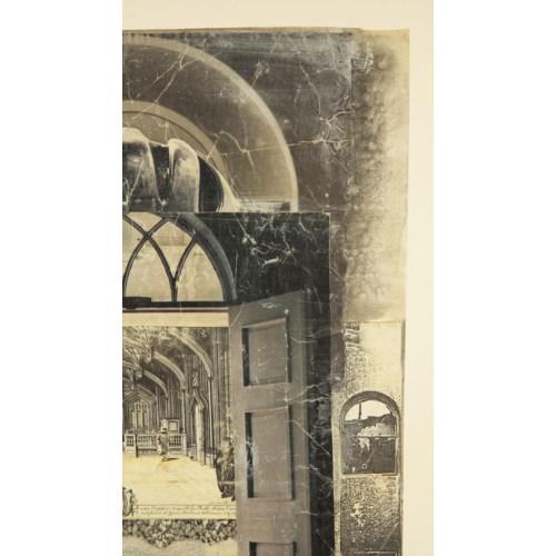 """Arches"" Mixed Media Collage by Barbara Embree Circa 1990"