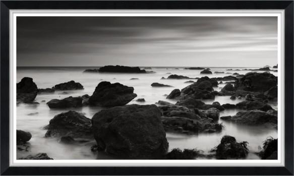 Black and White Rocks in the Sea II