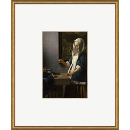 Woman Holding a Balance-  Jan Vermeer