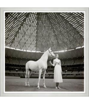 "Vogue Magazine, ""Model with Horse"", Franco Rubartelli, April 1968"