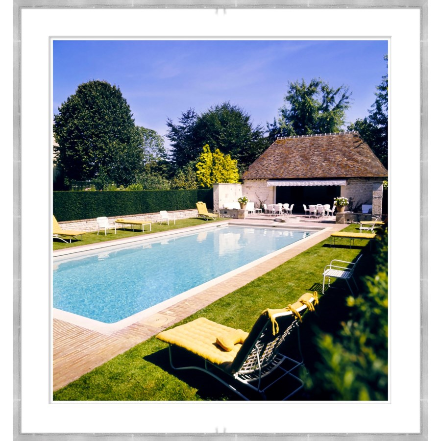 "Vogue Magazine, ""Pool at Haras de Meautry"", Henry Clarke, July 1974"