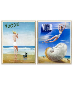 "Vogue Magazine, ""Women with Dog"" & Vogue Magazine, ""Surrealist Women"""