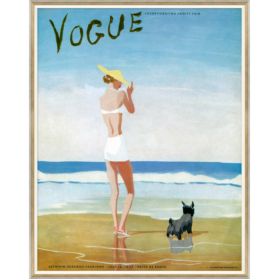 "Vogue Magazine, ""Women with Dog"", Eduardo Benito, July 1937"