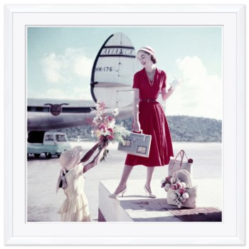 "Glamour, ""Jetsetting Model"", Frances McLaughlin-Gill, May 1957"