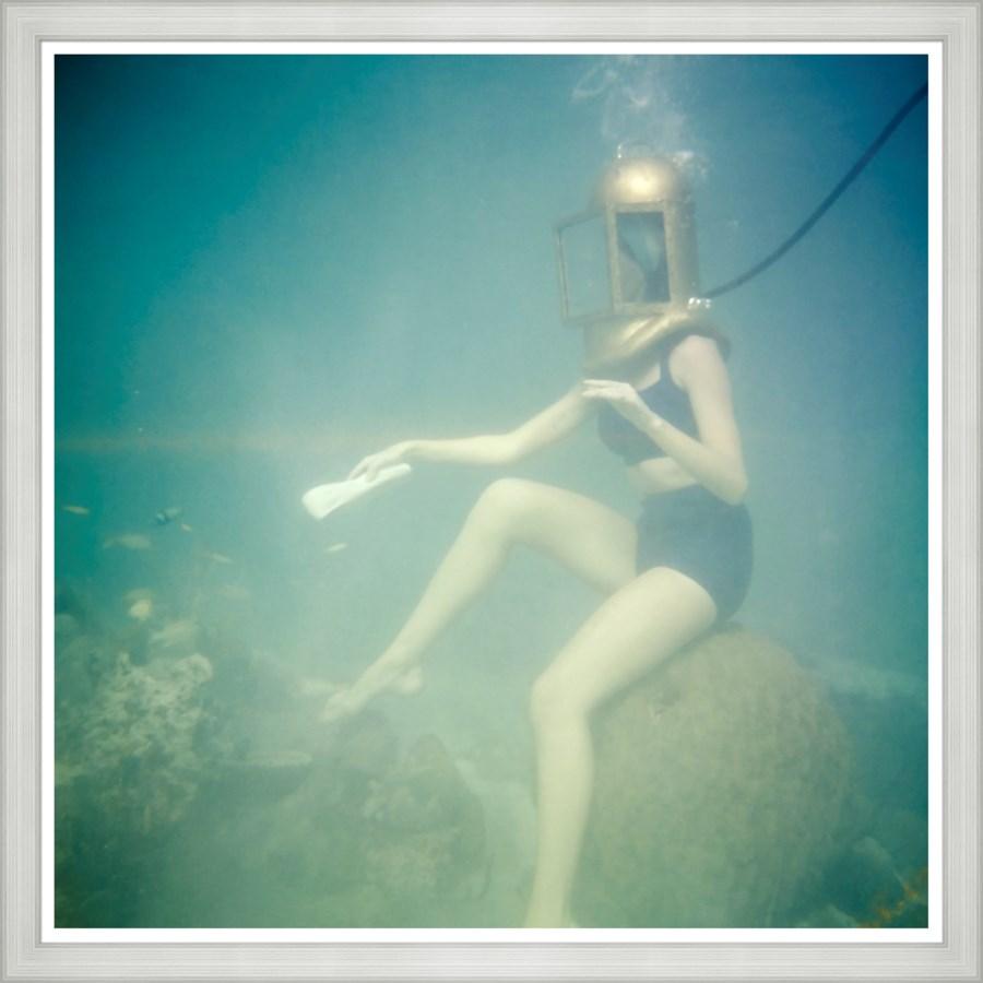 "Vogue Magazine, ""Model Underwater"", Richard Rutledge, June 1959"