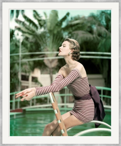 "Vogue Magazine, ""Model in a Long Sleeved Swimsuit"", John Rawlings, May 1954"