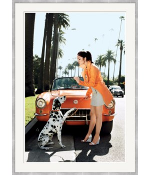"Self Magazine, ""Woman giving treat to Dalmation"", Arthur Elgort, June 2008"
